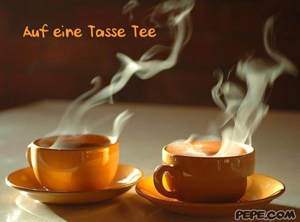 auf eine tasse tee - einladung, Einladung