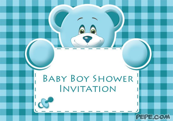 baby boy shower invitation on