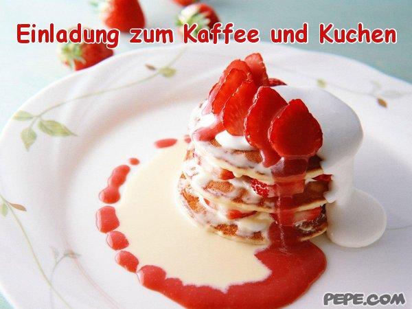 einladung zum kaffee und kuchen - einladung, Einladung