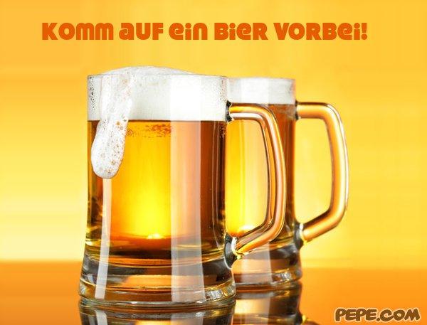 Komm auf ein Bier vorbei! - einladung