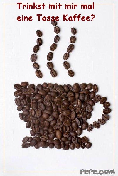 trinkst mit mir mal eine tasse kaffee? - einladung, Einladung