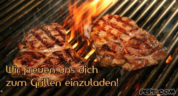 Wir Freuen Uns Dich Zum Grillen Einzuladen Einladung