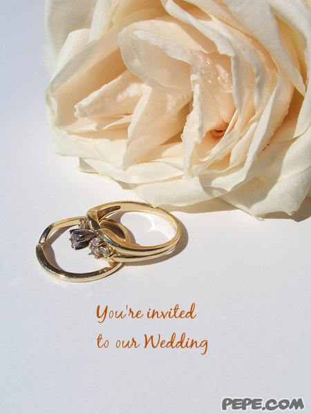 You're invited to our Wedding - invitation on PEPE.com