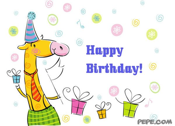 Happy Birthday greeting card on PEPE – Birthday Online Card
