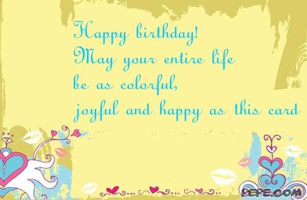 Happy birthday greeting card on PEPE – Happy Birthday Greeting Text
