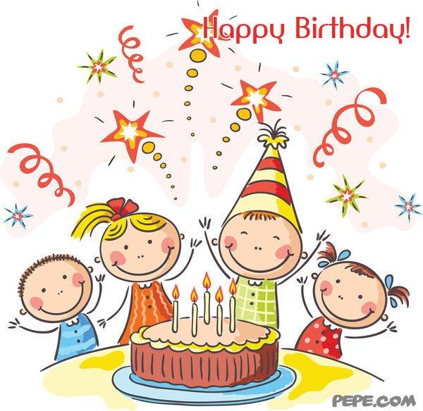 happy birthday  greeting card on pepe, Birthday card