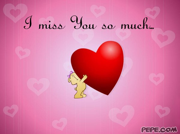 miss You so much... - greeting card on PEPE.com