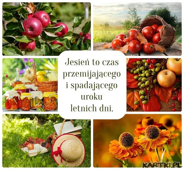 Jesień to czas przemijającego i spadającego uroku letnich dni