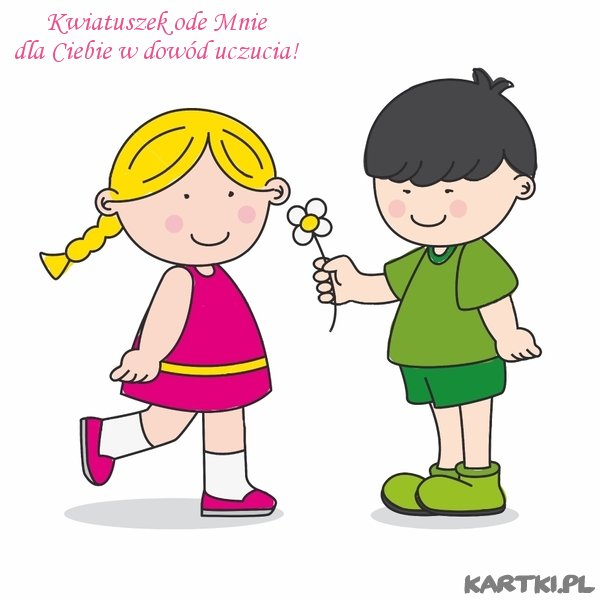 Мальчик дарит девочке цветы картинки 8
