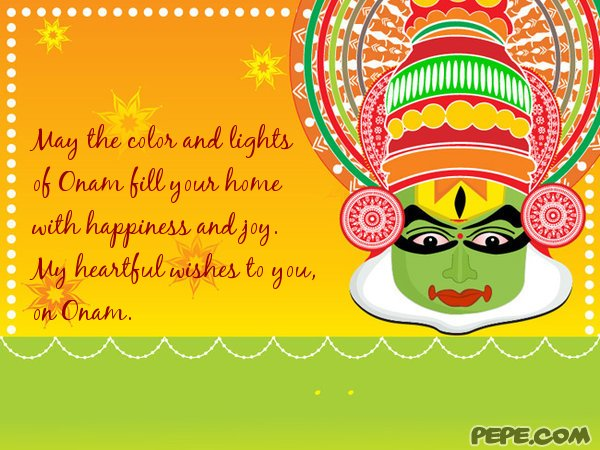 my heartful wishes to you, on onam  greeting card on pepe, Greeting card