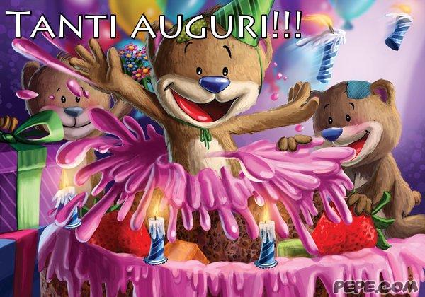 Famoso Tanti auguri!!! Cartolina stampata AG64