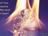 Heat of love will dissolve even the most frozen heart...