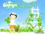 Ich wünsche dir viel Glück am St. Patrick's Day!