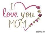 Я люблю тебя мама