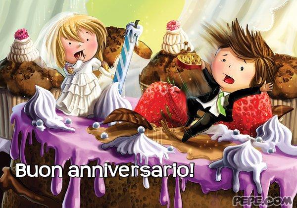 abbastanza buon anniversario! - Cartolina virtuale PEPE.com AJ63