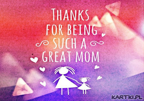 Dziękuję Mamusiu
