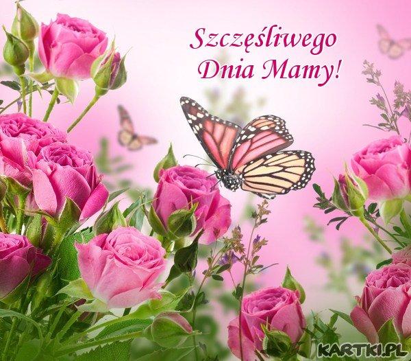 Dzień Mamy jest raz w roku,  niech będzie szczęśliwy i pełen uroku, niech każdej Mamie radość przyniesie, niech każda Mama dziś uśmiecha się!