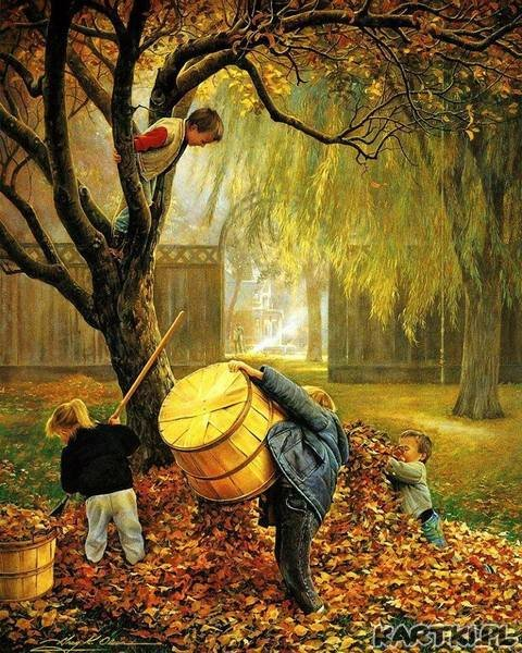 Jesień już liście z drzew postrącała