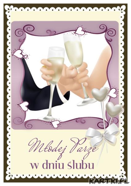 Młodej parze w dniu ślubu