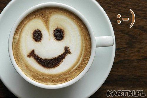 poranny uśmiech i kawusia dla Ciebie