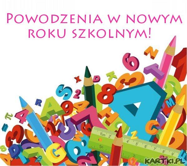 Powodzenia w nowym roku szkolnym!