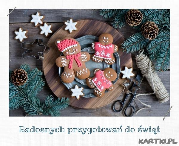 Radosnych przygotowań do świąt
