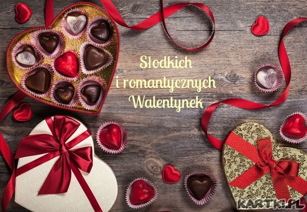 Słodkich i romantycznych Walentynek