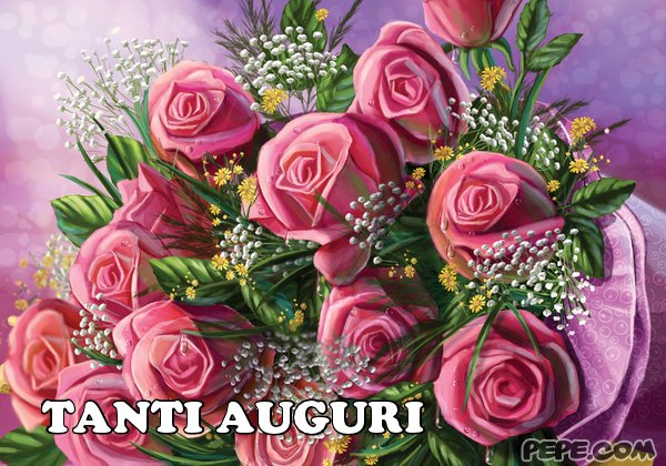 Popolare Tanti Auguri - Cartolina virtuale PEPE.com TU21