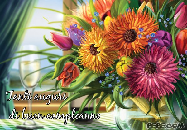 spesso Tanti auguri di buon compleanno Cartolina stampata LI37