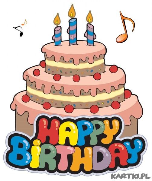 Urodzinowy tort dla Ciebie i najlepsze życzenia- zdrowia , szczęścia, pomyśjności i marzeń spełnienia!