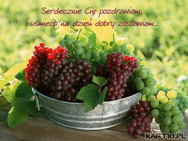winogrona, życzenia miłego dnia