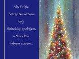 Aby Święta Bożego Narodzenia były bliskością i spokojem,a Nowy Rok dobrym czasem...