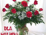 Bukiet róż dla kochanej Halinki