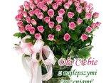 Bukiet różyczek  i najlepszych życzeń dla Ciebie