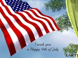 I wish you a Happy 4th of July