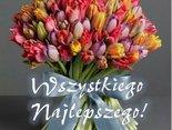 Kwiaty i najlepsze życzenia dla Ciebie!
