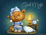 Mały Misio śni o Tobie i dobranoc mówi Tobie.
