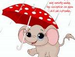 Słonik z parasolem