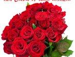 urodzinowy bukiet róż