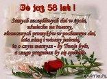 Urodziny 58 lat