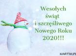 Wesołych świąt i szczęśliwego Nowego roku 2020!